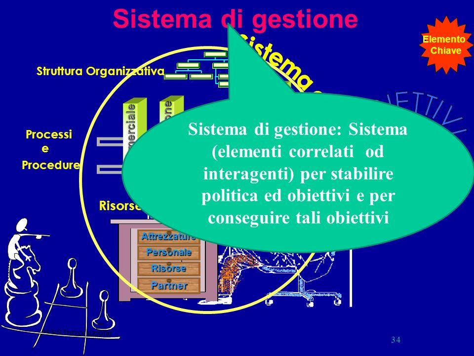 Sistema di gestione Elemento. Chiave. Sistema di Gestione. Struttura Organizzativa.
