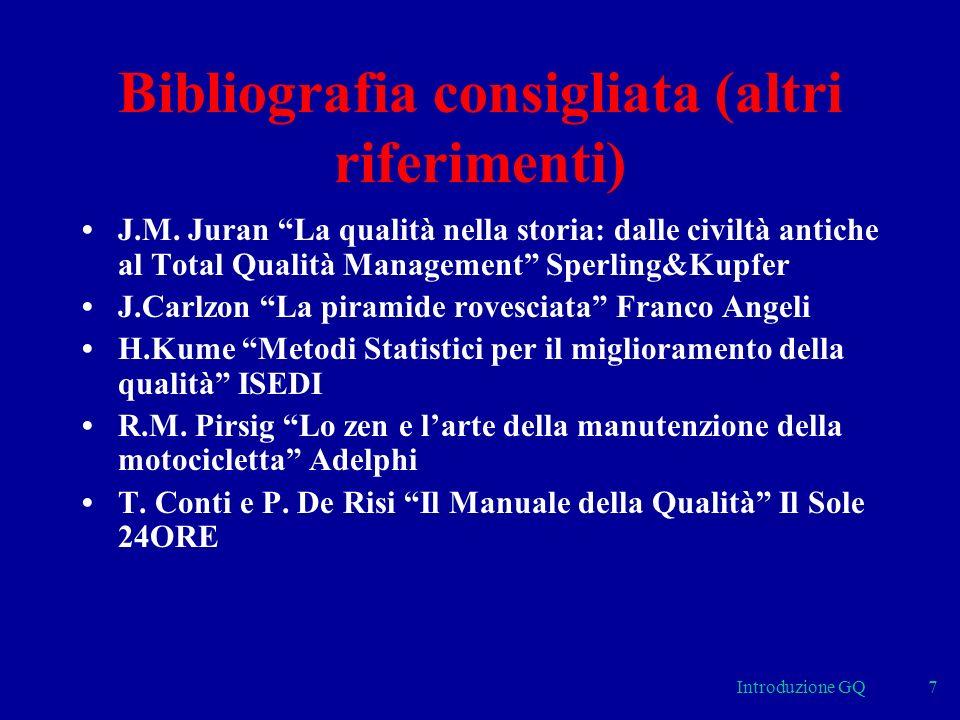 Bibliografia consigliata (altri riferimenti)
