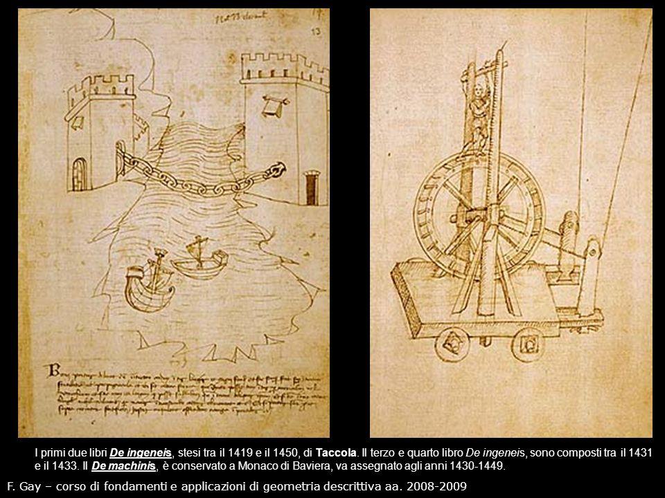 I primi due libri De ingeneis, stesi tra il 1419 e il 1450, di Taccola