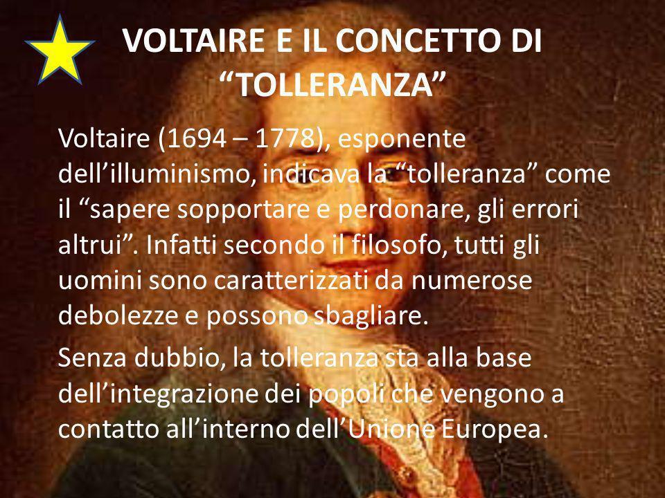 VOLTAIRE E IL CONCETTO DI TOLLERANZA