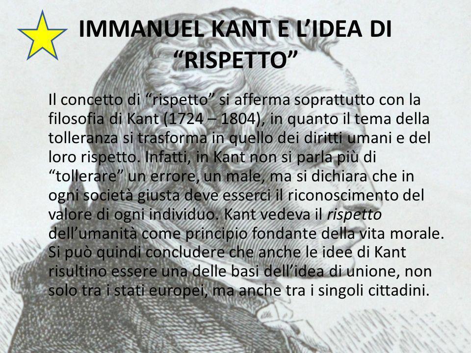 IMMANUEL KANT E L'IDEA DI RISPETTO