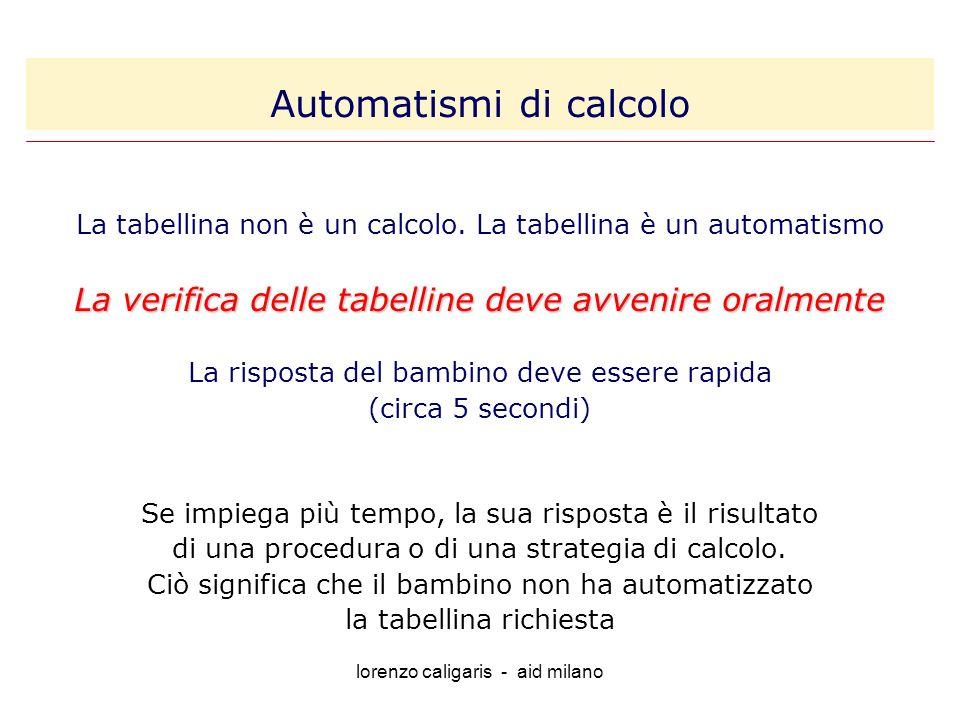 Automatismi di calcolo