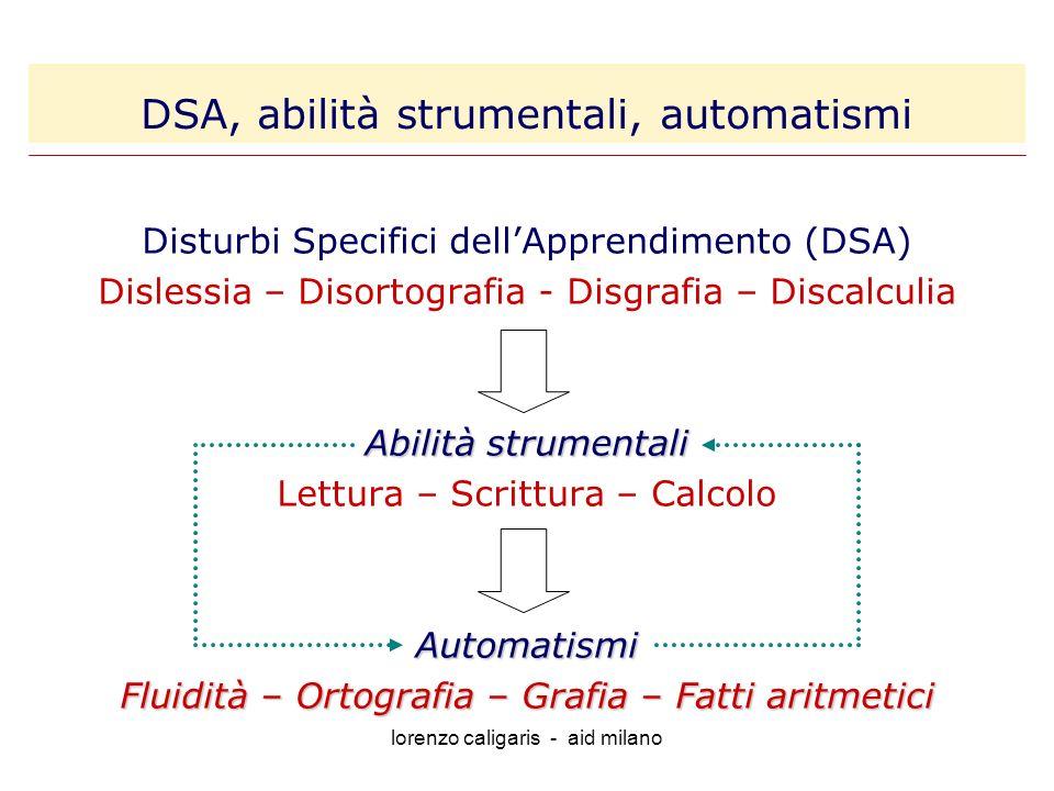 DSA, abilità strumentali, automatismi