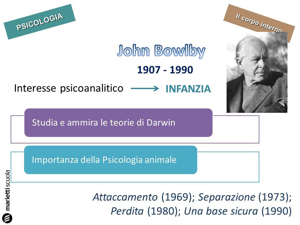 John Bowlby 1907 - 1990 Interesse psicoanalitico INFANZIA