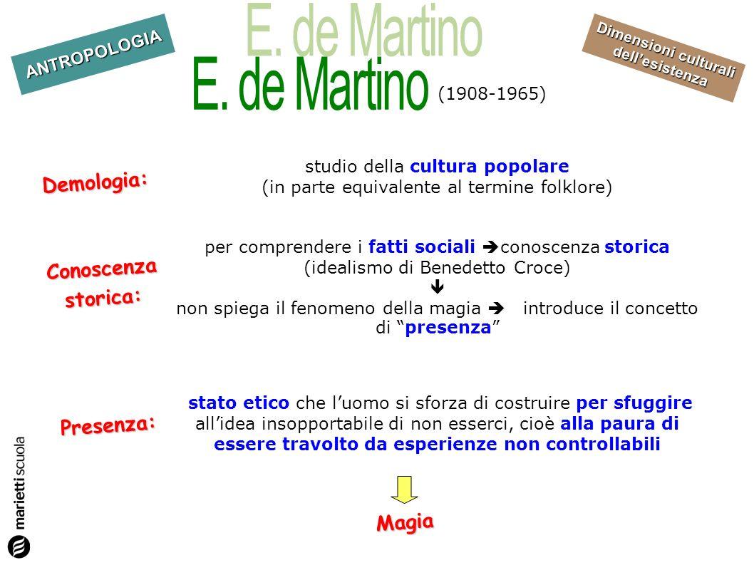 E. de Martino Demologia: Conoscenza storica: Presenza: Magia
