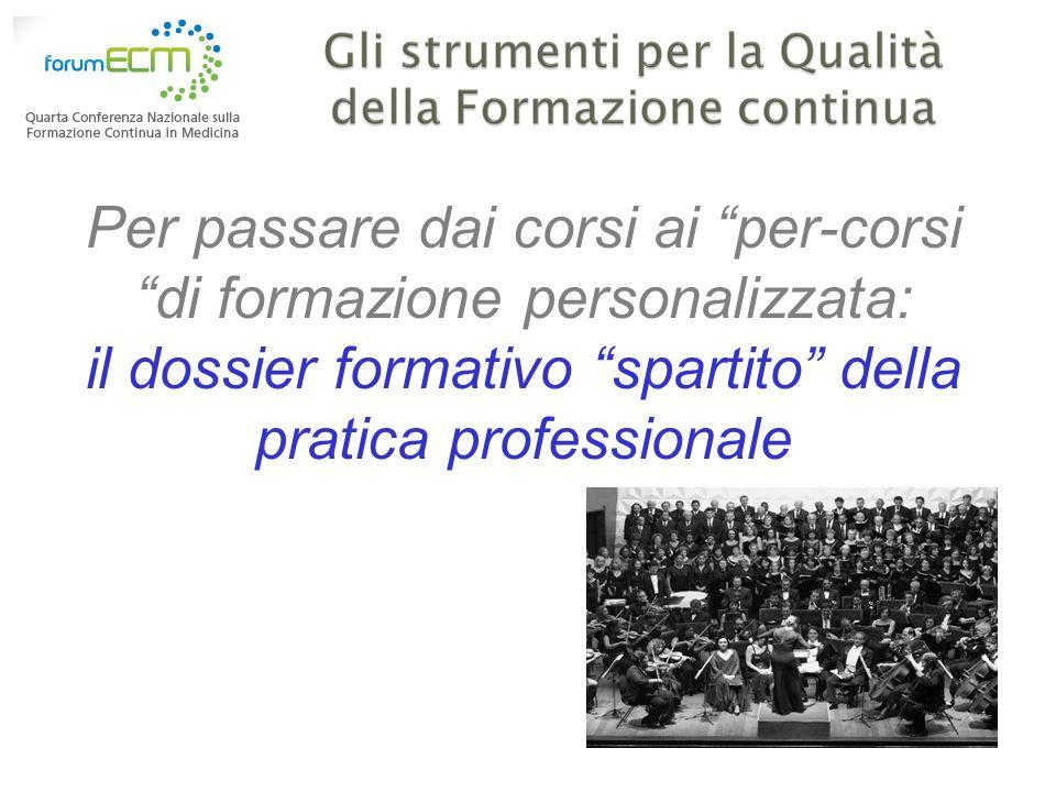 Per passare dai corsi ai per-corsi di formazione personalizzata: il dossier formativo spartito della pratica professionale