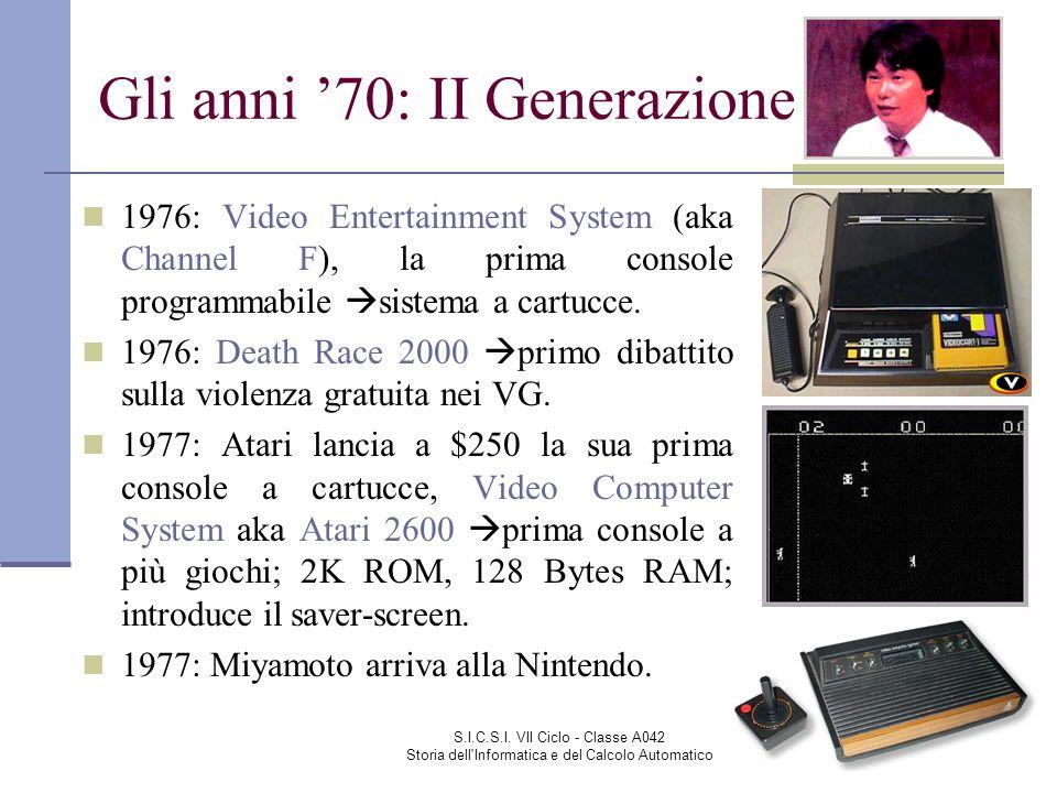 Gli anni '70: II Generazione