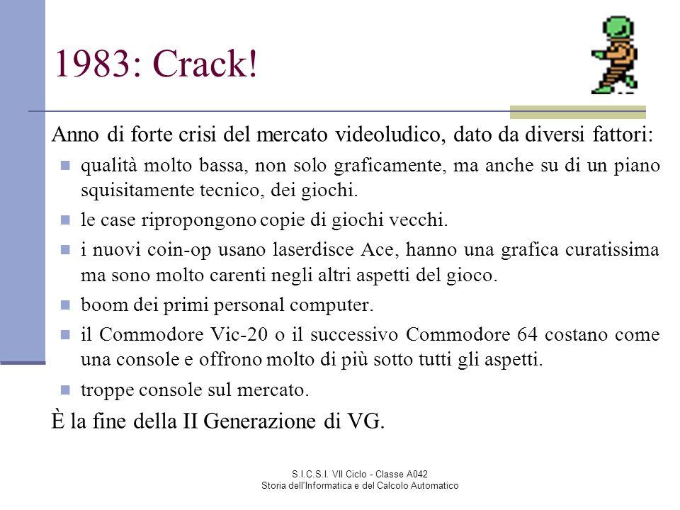 1983: Crack! Anno di forte crisi del mercato videoludico, dato da diversi fattori: