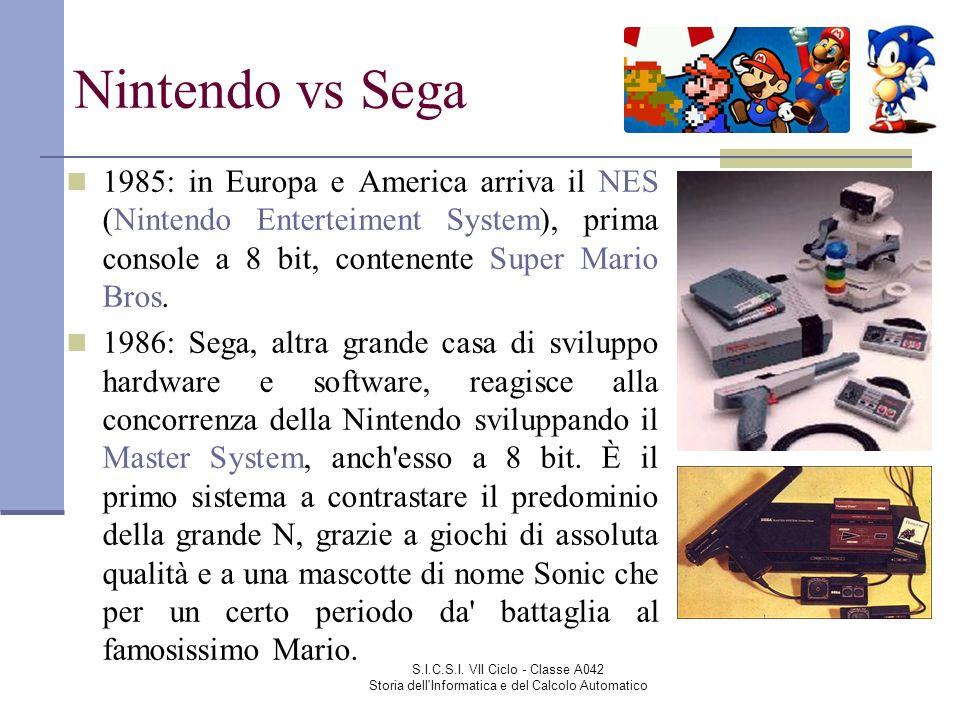 Nintendo vs Sega 1985: in Europa e America arriva il NES (Nintendo Enterteiment System), prima console a 8 bit, contenente Super Mario Bros.
