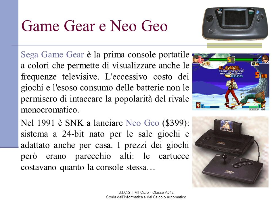 Game Gear e Neo Geo