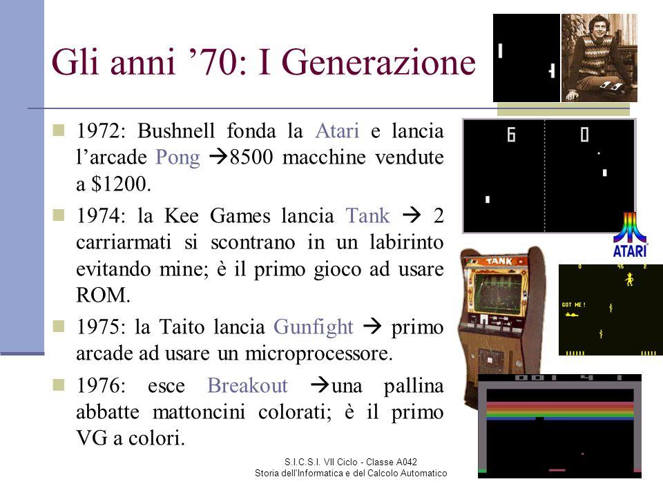 Gli anni '70: I Generazione
