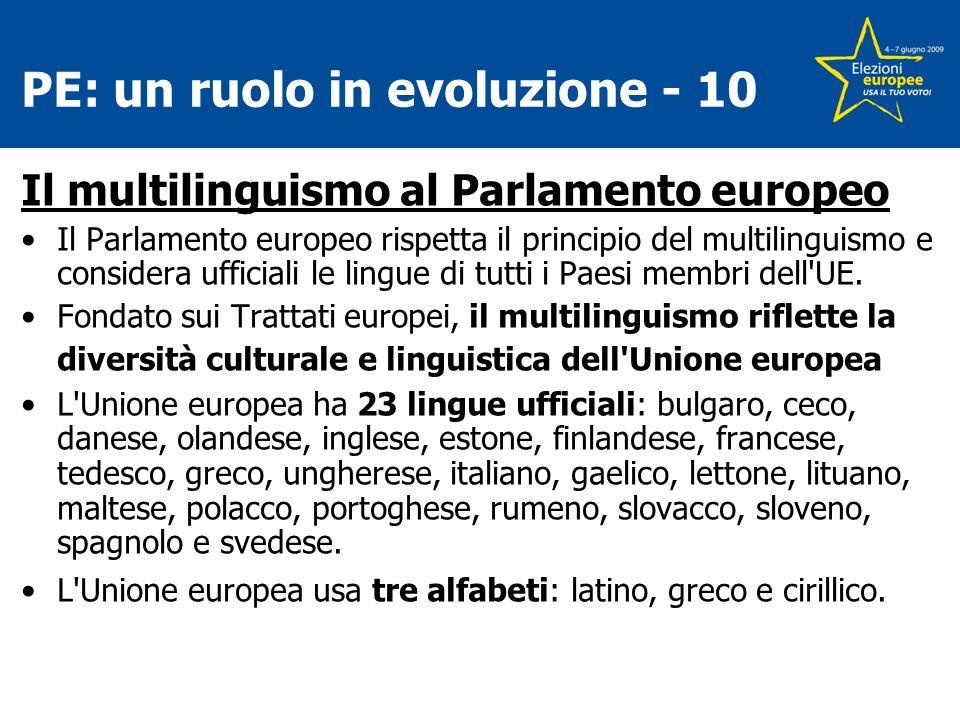 PE: un ruolo in evoluzione - 10