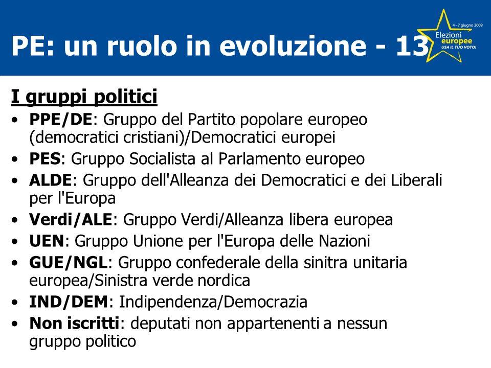 PE: un ruolo in evoluzione - 13