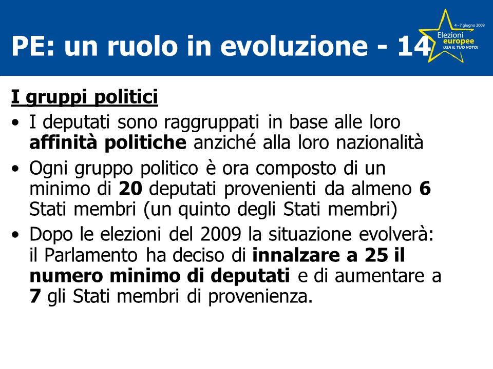 PE: un ruolo in evoluzione - 14