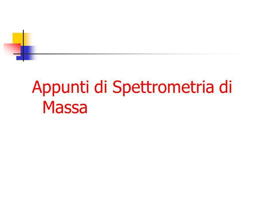 Appunti di Spettrometria di Massa