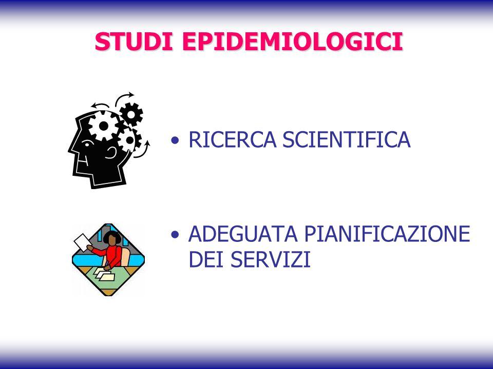 STUDI EPIDEMIOLOGICI RICERCA SCIENTIFICA