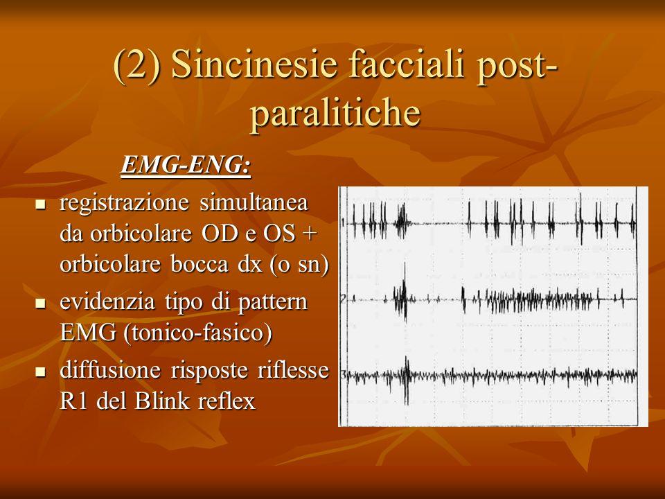 (2) Sincinesie facciali post-paralitiche