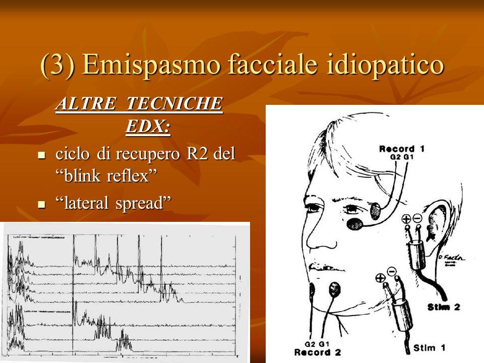 (3) Emispasmo facciale idiopatico