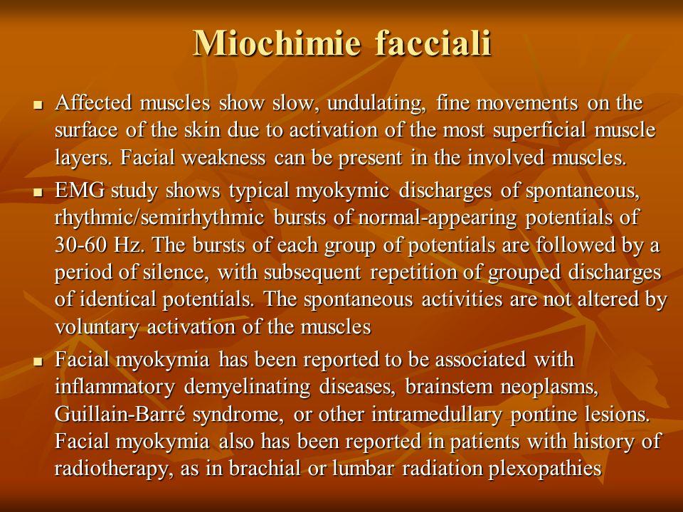 Miochimie facciali