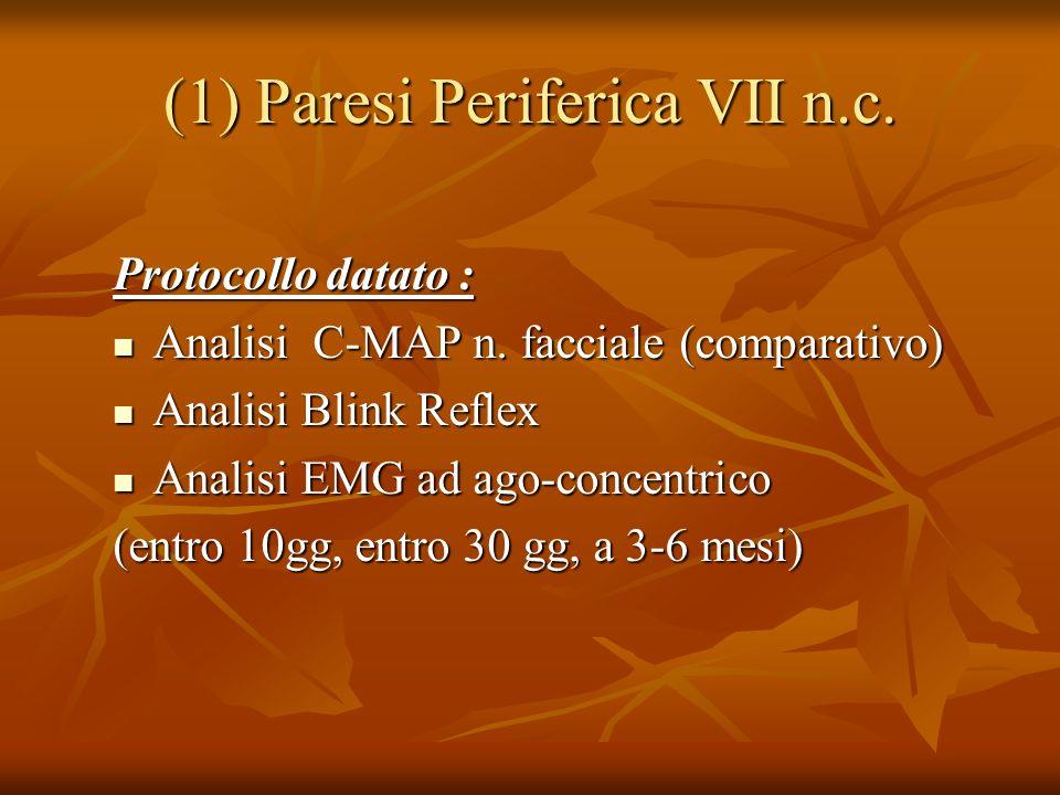 (1) Paresi Periferica VII n.c.