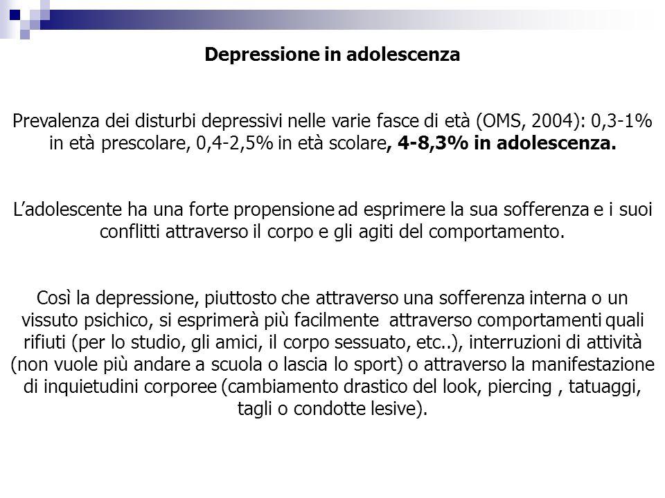 Depressione in adolescenza