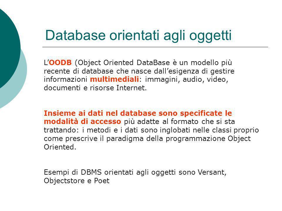 Database orientati agli oggetti