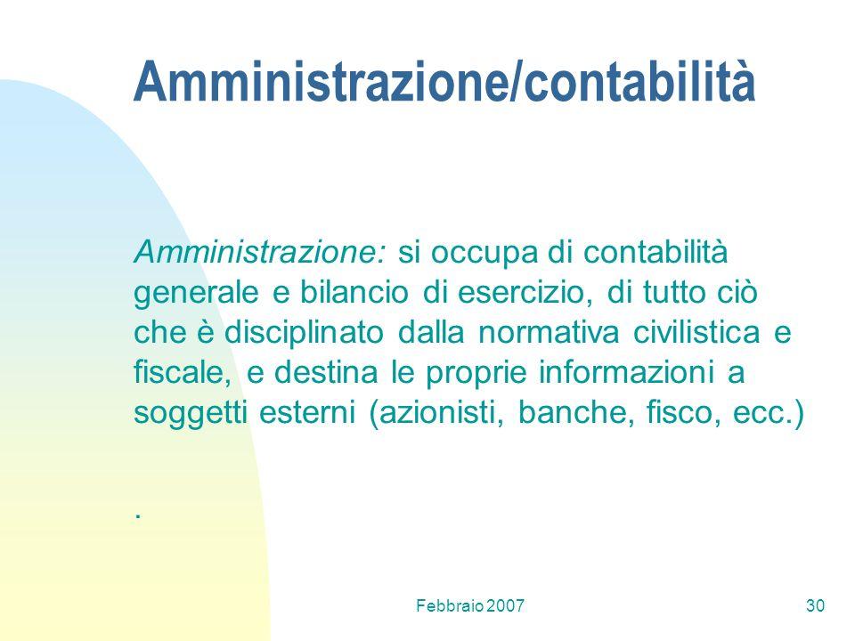 Amministrazione/contabilità
