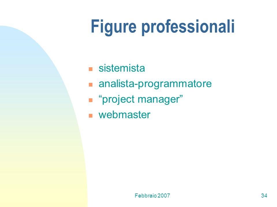 Figure professionali sistemista analista-programmatore
