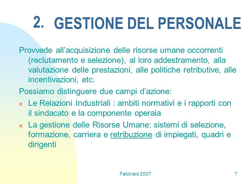 GESTIONE DEL PERSONALE