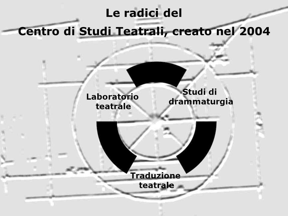Le radici del Centro di Studi Teatrali, creato nel 2004