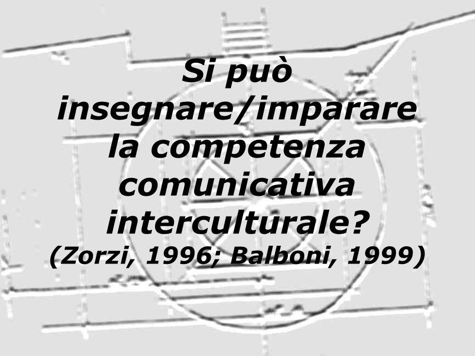 Si può insegnare/imparare la competenza comunicativa interculturale