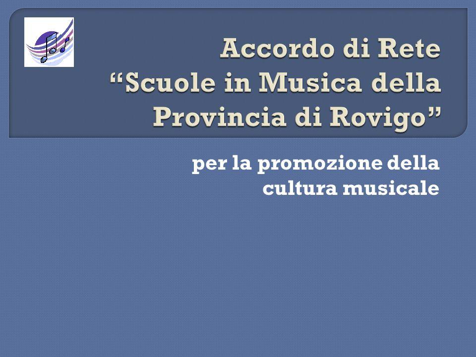 Accordo di Rete Scuole in Musica della Provincia di Rovigo