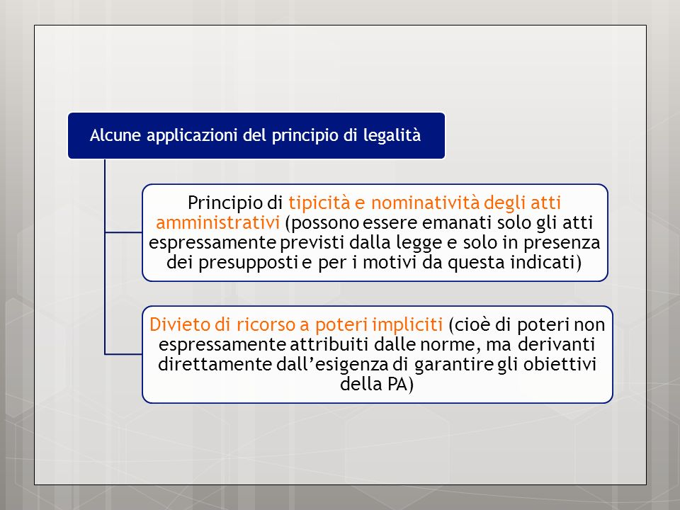 Alcune applicazioni del principio di legalità