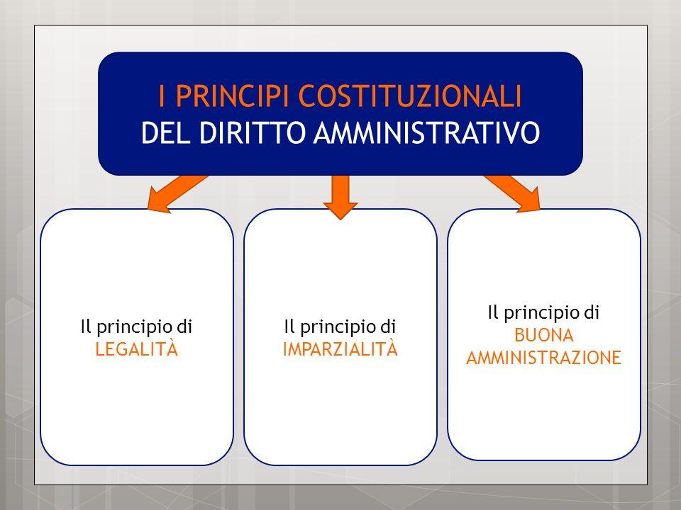 I PRINCIPI COSTITUZIONALI DEL DIRITTO AMMINISTRATIVO