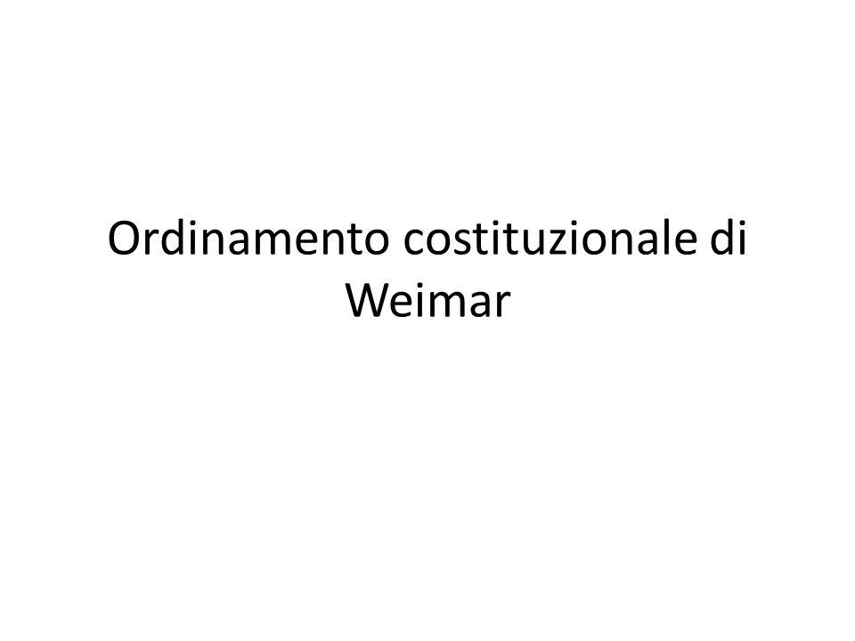 Ordinamento costituzionale di Weimar