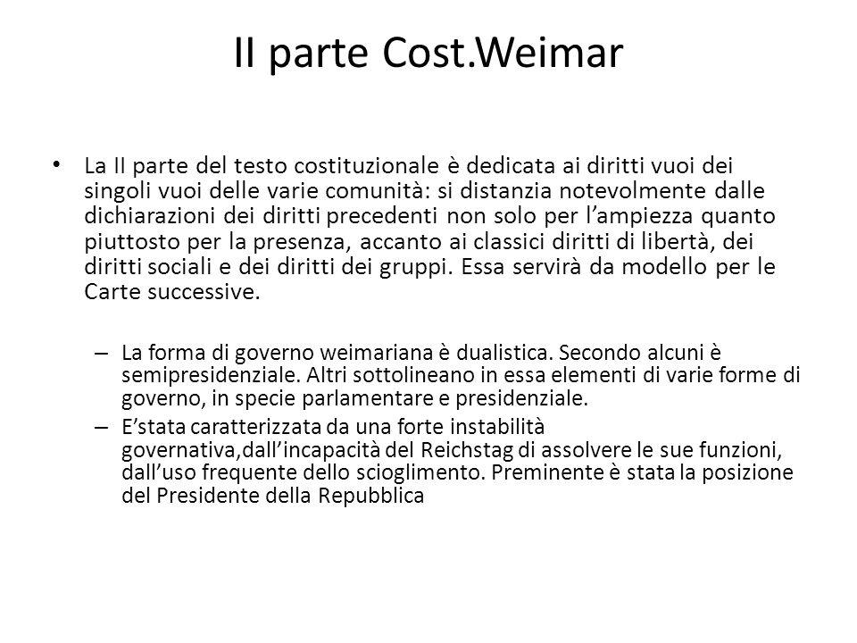 II parte Cost.Weimar