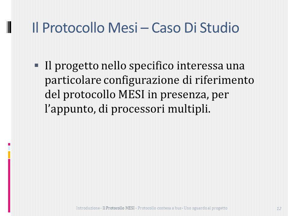 Il Protocollo Mesi – Caso Di Studio