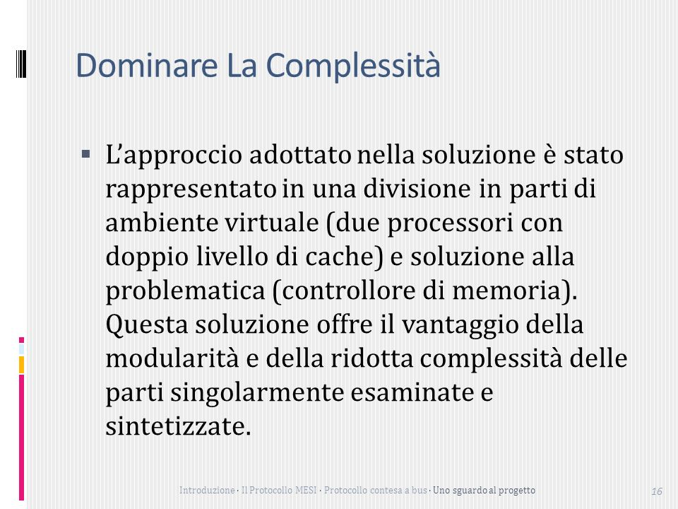 Dominare La Complessità