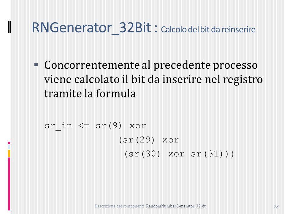 RNGenerator_32Bit : Calcolo del bit da reinserire