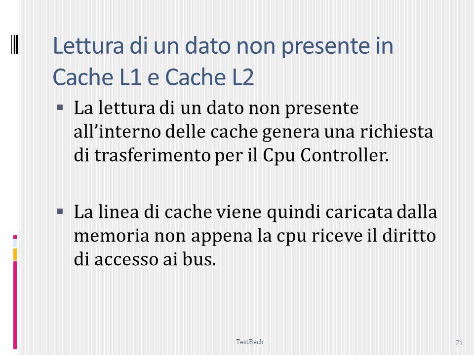 Lettura di un dato non presente in Cache L1 e Cache L2