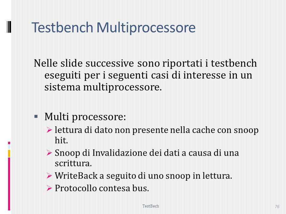 Testbench Multiprocessore
