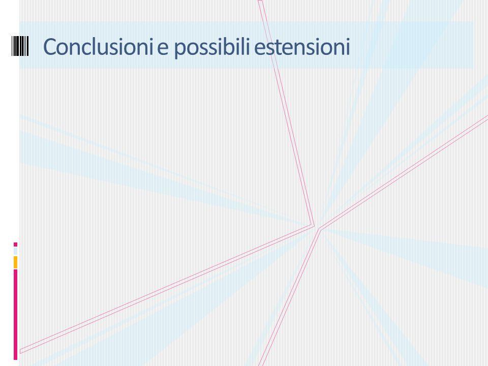 Conclusioni e possibili estensioni