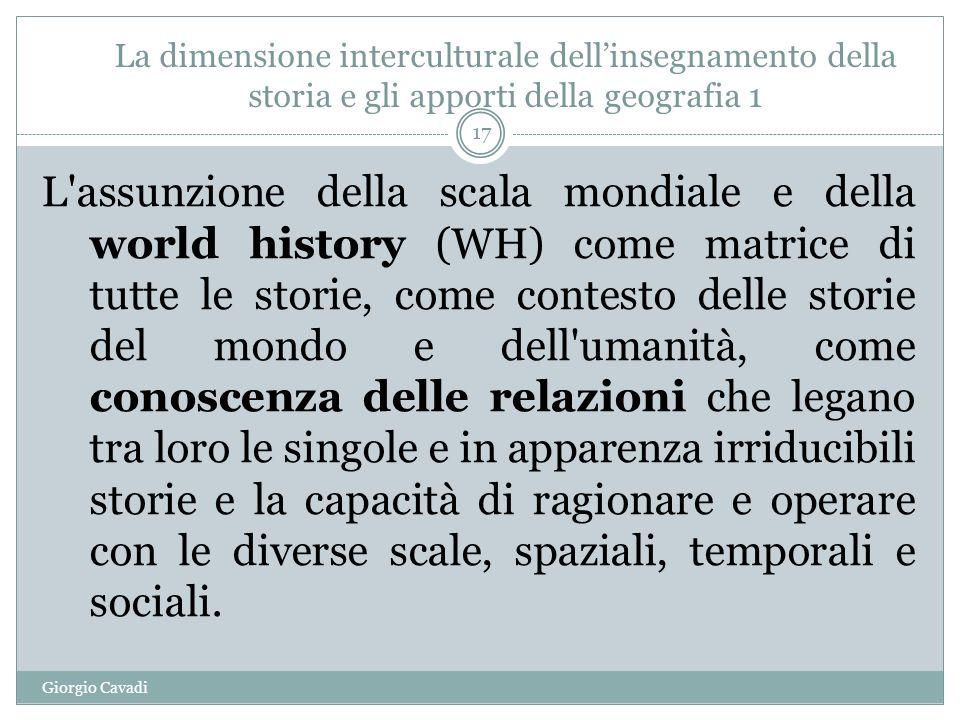 La dimensione interculturale dell'insegnamento della storia e gli apporti della geografia 1