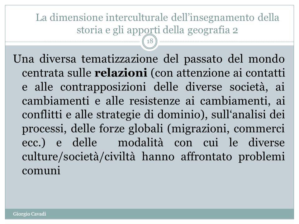 La dimensione interculturale dell'insegnamento della storia e gli apporti della geografia 2