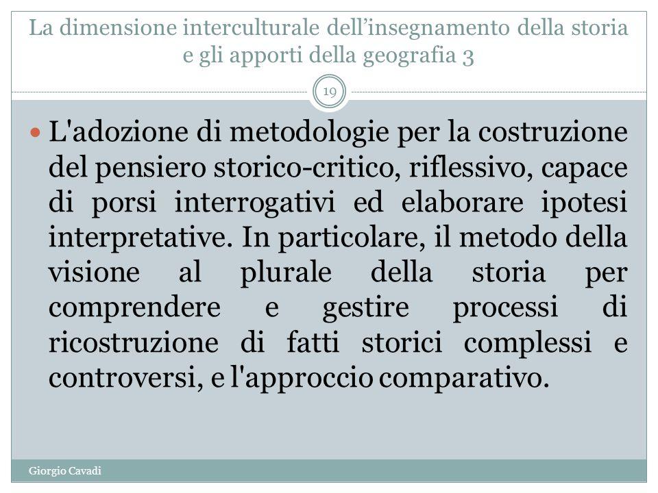 La dimensione interculturale dell'insegnamento della storia e gli apporti della geografia 3