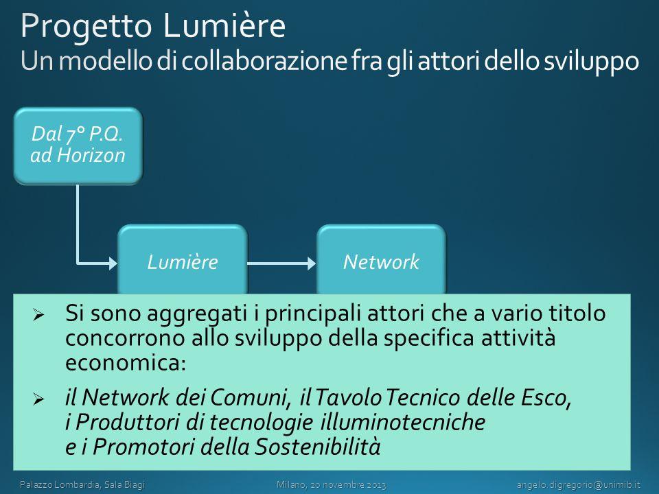 Progetto Lumière Un modello di collaborazione fra gli attori dello sviluppo
