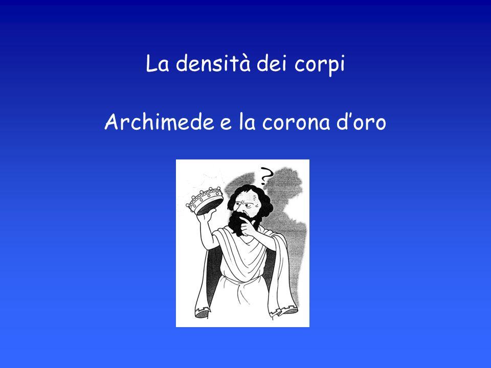 La densità dei corpi Archimede e la corona d'oro