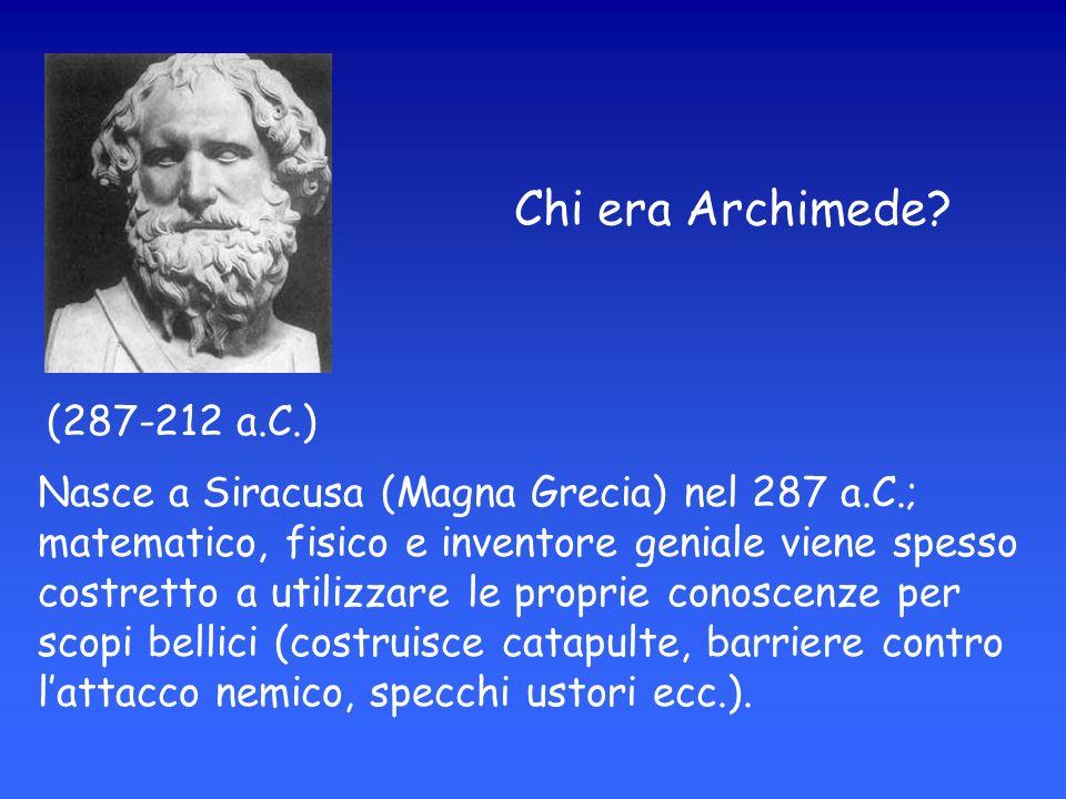 Chi era Archimede (287-212 a.C.)