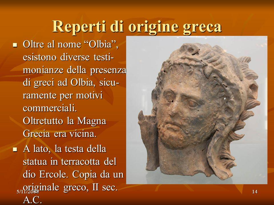 Reperti di origine greca