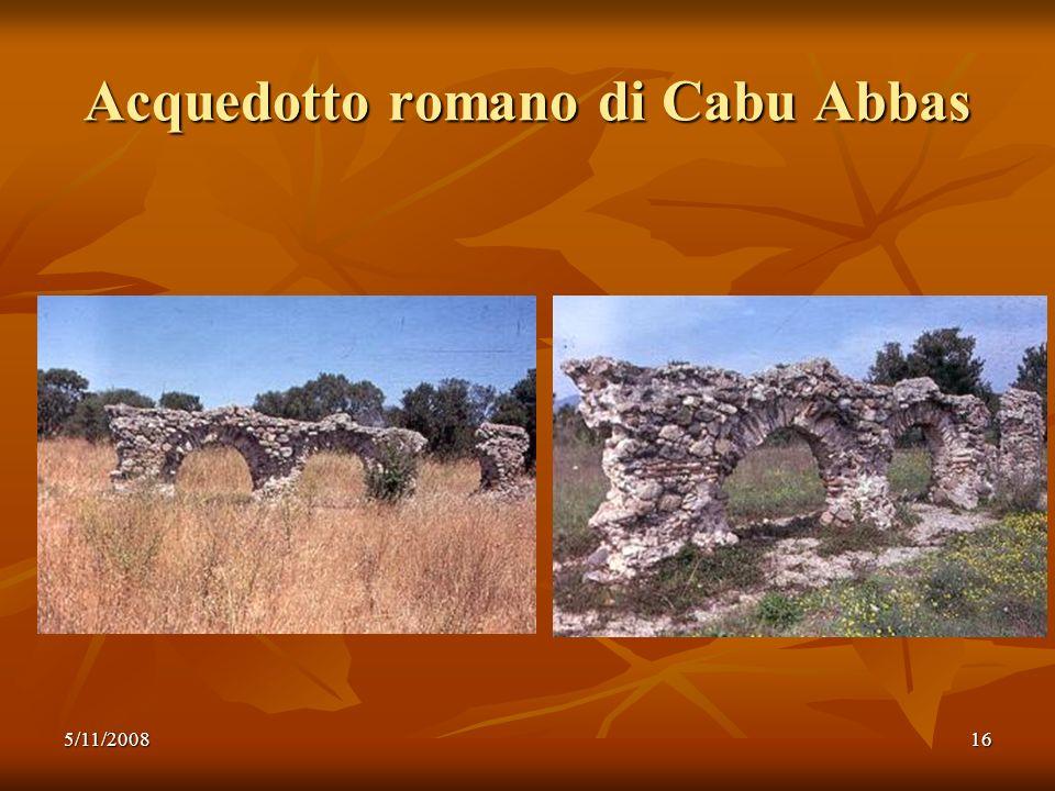 Acquedotto romano di Cabu Abbas